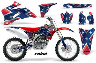 OFF ROAD MOTORCROSS GRAPHIC DECAL KIT YAMAHA YZ 250/450 F 06 09 REBEL