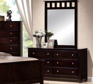 Brown Contemporary 5 Pc Queen King Bed Bedroom Set Furniture