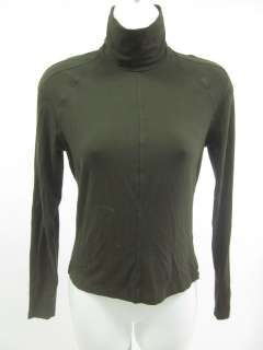 WEEKEND MAX MARA Dark Green Turtleneck Knit Top Sz S