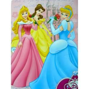Disney Princess Blanket  Royal Plush Raschel Throw Home & Kitchen