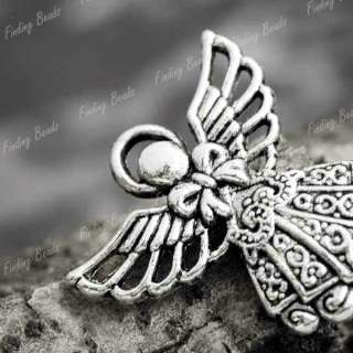 tibetan silver Angel Religious Charms pendant fit bracelet wholesale