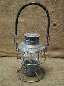 Vintage Burlington Route Railroad Lantern  Antique Old