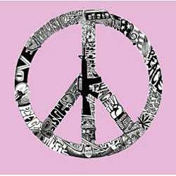 Los Angeles Pop Art Womens Peace Love Music Hoodie