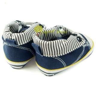 Toddler Blue Baby Boy Infant shoes Sneaker Prewalker(C91)size 2 3 4