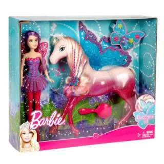 NIB Barbie Fairy Doll and Horse Gift Set