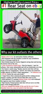 Yamaha G14,G16,G19 22 Golf Cart Rear Flip Back Seat Kit