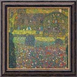 Gustav Klimt House in Attersee Framed Canvas Art