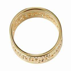 Collection 14k Gold plated Open weave Band Ring