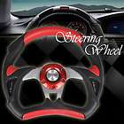 Universal 13/320mm PU+PVC Sport Racing Steering Wheel + Horn Button