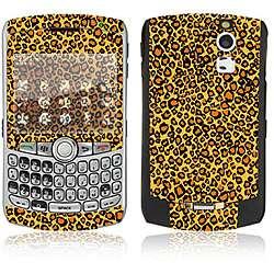 Orange Leopard BlackBerry Curve 8330 Decal Skin