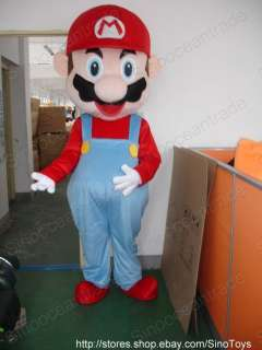 Super Mario Mascot Costume Fancy Dress Outfit Suit EPE