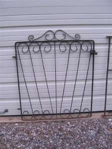 Vintage Solid Wrought Iron Gate, Houston Texas Estate, Pick Up Only