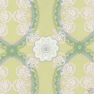 COTTON UPHOLSTERY FABRIC VINTAGE DAMASK OLIVE GREEN 52