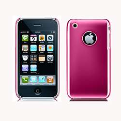 iPhone 3G 3GS Hard Plastic Case with Chrome Pink Finish