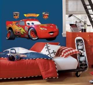 Disney Cars Giant LIGHTNING MCQUEEN WALL DECAL Stickers 034878034980