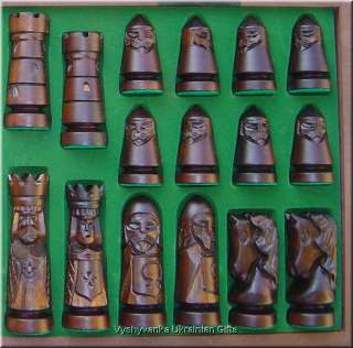 Carved Wooden Chess Set   Large Castle Chess Fornier
