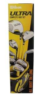 New Wilson Ultra Mens Left Handed Golf Club Set w/ Bag 883813552931