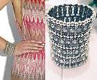 Womens Girls Clear & Brown Rhinestone Swarovski Crystals Band Bangle