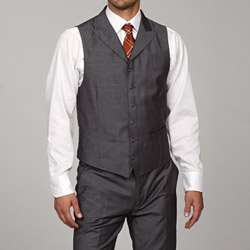 English Laundry Mens Slim Fit Dark Grey 3 piece Suit