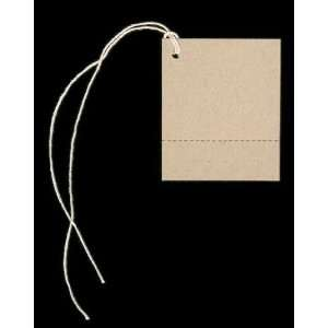 100 PERFORATED Blank KRAFT Hang Tags (1 3/4x2 1/8) & 100