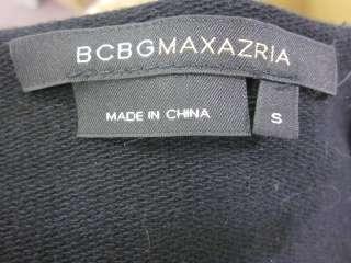 BCBG MAX AZRIA Black Sequin 3/4 Sleeve Tunic Top Sz S
