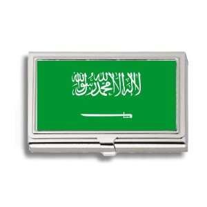 Saudi Arabia Arabian Flag Business Card Holder Metal Case