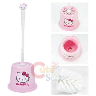 Sanrio Hello Kitty Bathroom Toilet Brush & Holder Pink