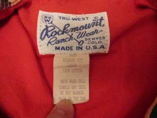 USA Made Western Cowboy Boot Rockabilly Pearl Snap Shirt Sz L