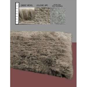 Flokati Faux Fur Rugs 6 Octogon (BROWN) Home & Kitchen