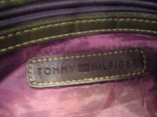 Tommy Hillfiger Olive Green Faux Leather Handbag Purse