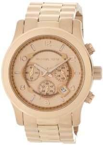 Mens Rose Gold Oversize Runway (Rose Gold) Michael Kors Watches