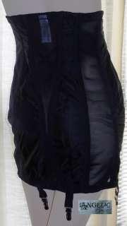 Rago 1294 High Waist Open Bottom Girdle 6 Metal Garters Side Zipper