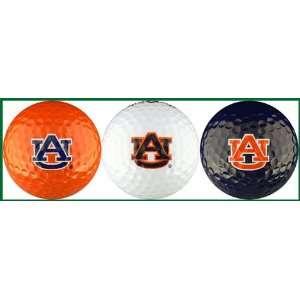 Auburn University Tigers Golf Balls 3 Piece Gift Set with