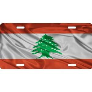 Rikki KnightTM Lebanon Flag Cool Novelty License Plate