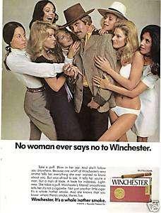 1973 orig FARRAH FAWCETT rare WINCHESTER CIGARS mag ad