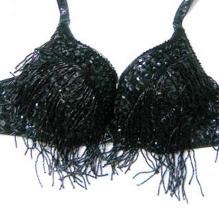 d2b# 1pc Brilliant Tassel Belly Dance Bra / Top 34/75C