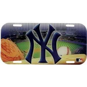 New York Yankees   Field High Def License Plate MLB Pro
