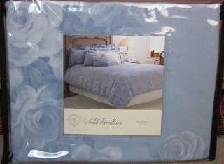 Excellence ROSE TOILE Blue Full Queen Duvet Cover + Std Shams 3 P Set