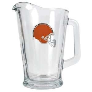 Cleveland Browns NFL 60oz Glass Pitcher   Primary Logo