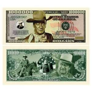 John Wayne Collectors Million Dollar Bills (5/$3.00)