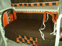 Baby Nursery Crib Bedding Set w/Cleveland Browns fabric |