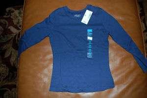 GIRLS BLUE LONG SLEEVE T SHIRT SIZE S 5 6