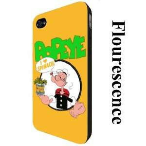 Popeye Case for Iphone 4 / 4s   Custom Iphone Phone Case