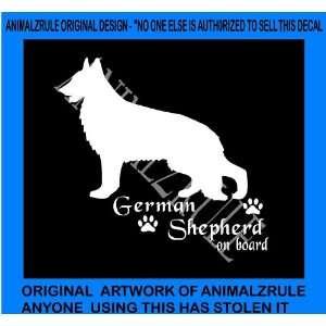 GERMAN SHEPHERD DOG VINYL DECAL