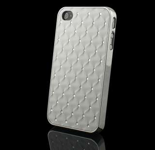 Luxury Bling Diamond Crystal Hard Back Case Cover For Apple iPhone 4