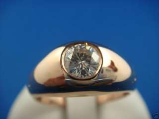 ROSE GOLD DIAMOND SOLITAIRE MENS GYPSY RING 0.50 CT.