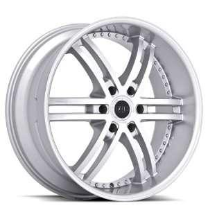 Hummer Wheels Rims Machine Face Silver Lip 4pc   1set Automotive