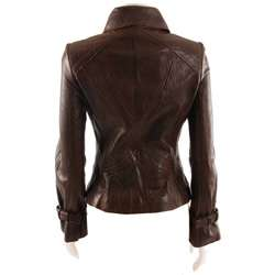 Guess Womens Zip front Leather Jacket