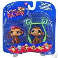 Littlest Pet Shop TWIN MONKEYS Boy & Girl RETIRED LPS