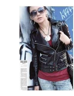 black rock shiny Armor motorcycle Bomber Jacket faux leather coat zips